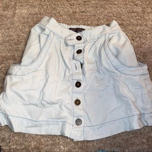 Kendall & Kylie Light Blue Skirt with Pockets